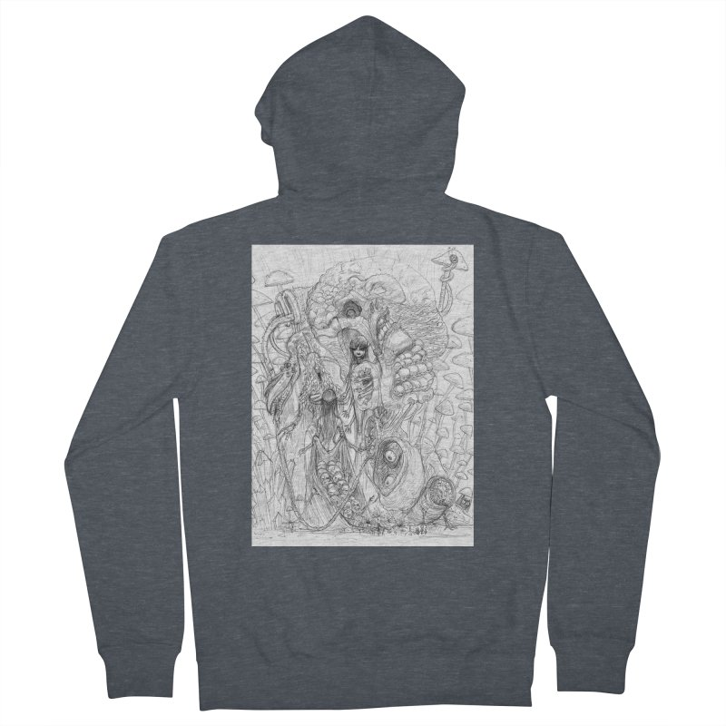 Ethereal Fatalities || Pareidolia Drawing Men's French Terry Zip-Up Hoody by artistsjourney's Artist Shop