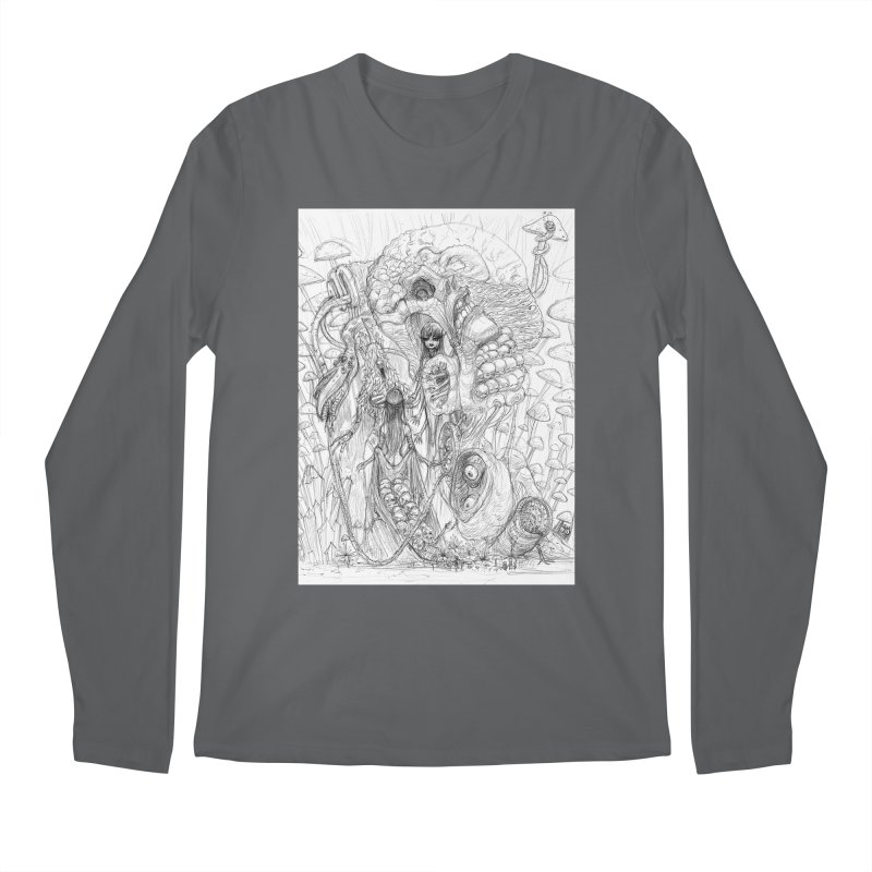 Ethereal Fatalities || Pareidolia Drawing Men's Longsleeve T-Shirt by artistsjourney's Artist Shop