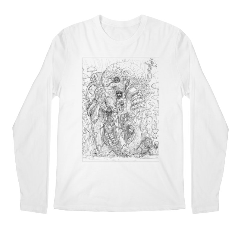 Ethereal Fatalities || Pareidolia Drawing Men's Regular Longsleeve T-Shirt by artistsjourney's Artist Shop