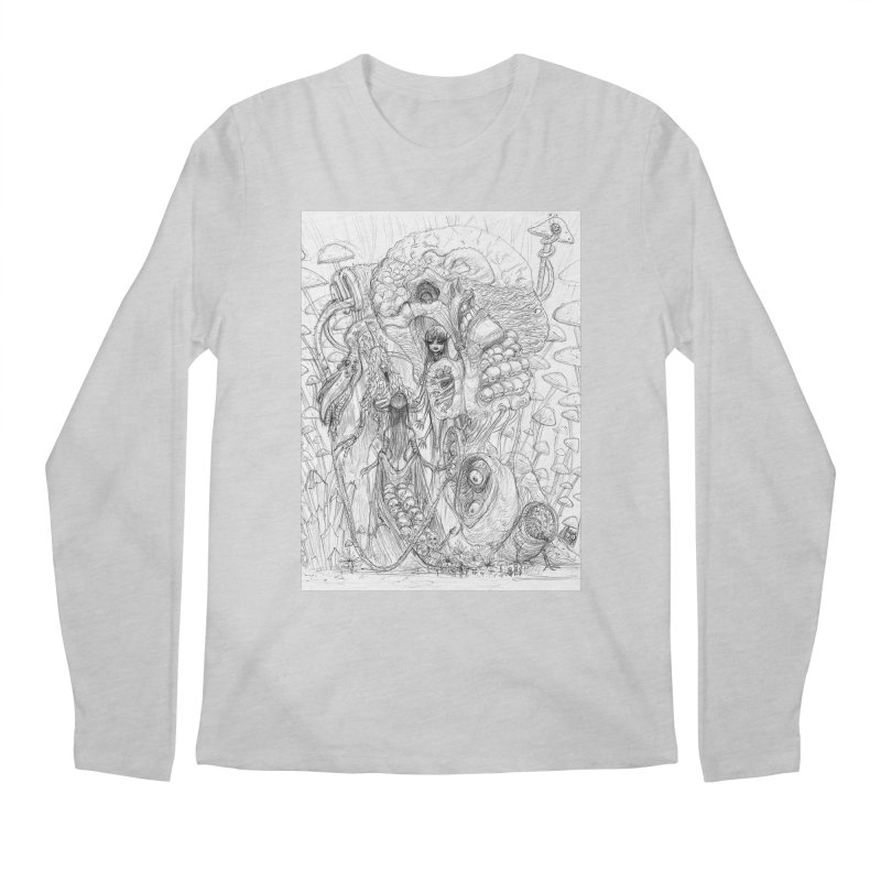 Ethereal Fatalities || Pareidolia Drawing Men's Regular Longsleeve T-Shirt by artistsjourney's Artist Shop