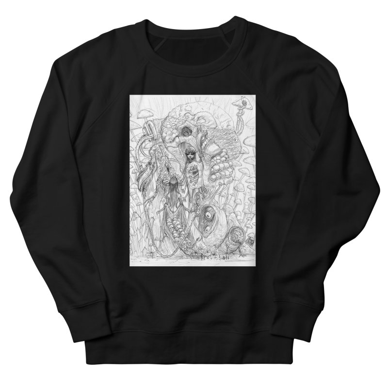 Ethereal Fatalities || Pareidolia Drawing Men's French Terry Sweatshirt by artistsjourney's Artist Shop