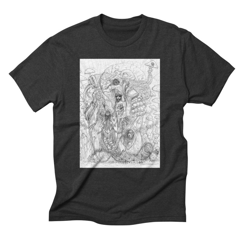 Ethereal Fatalities || Pareidolia Drawing Men's Triblend T-Shirt by artistsjourney's Artist Shop