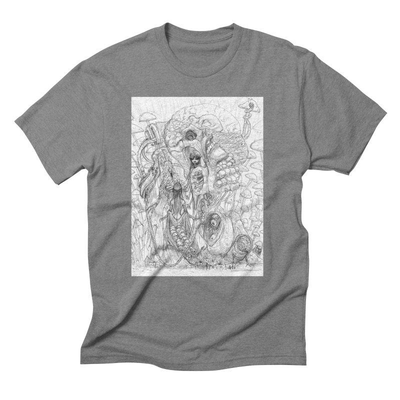 Ethereal Fatalities || Pareidolia Drawing Men's Triblend T-Shirt by artistsjourney's Artist Shop