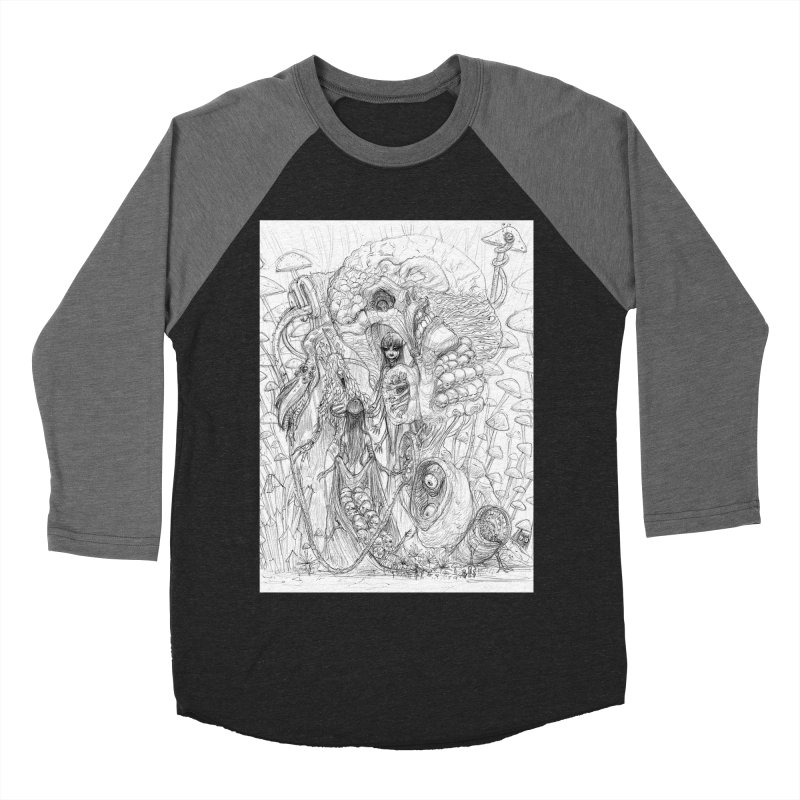 Ethereal Fatalities || Pareidolia Drawing Men's Baseball Triblend Longsleeve T-Shirt by artistsjourney's Artist Shop