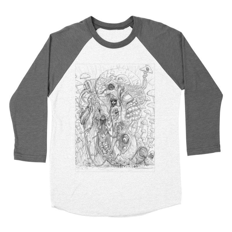 Ethereal Fatalities || Pareidolia Drawing Men's Baseball Triblend Longsleeve T-Shirt by artistsjourney's Artist Shop
