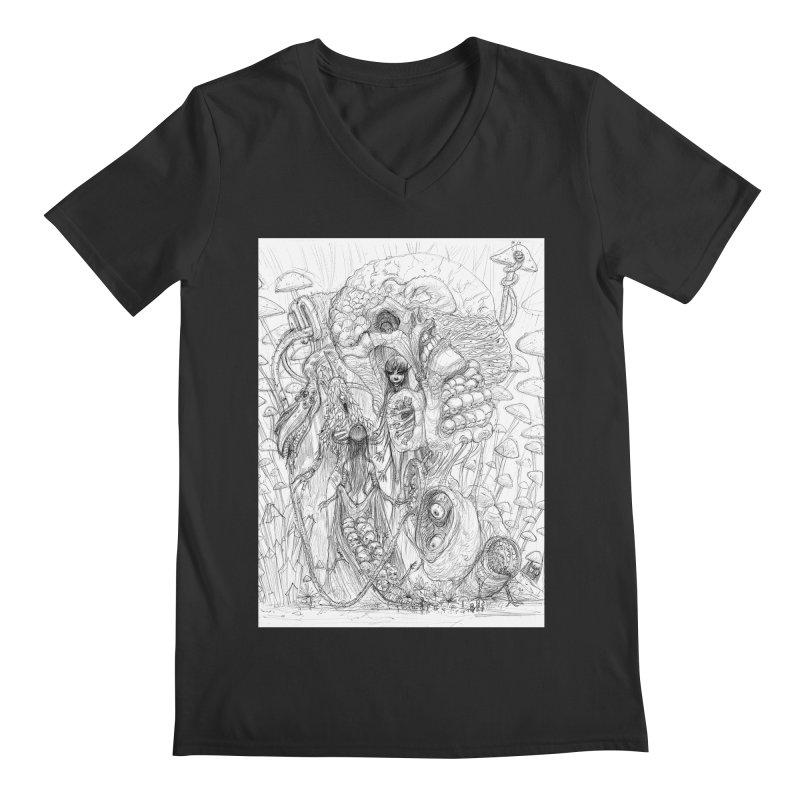 Ethereal Fatalities || Pareidolia Drawing Men's Regular V-Neck by artistsjourney's Artist Shop