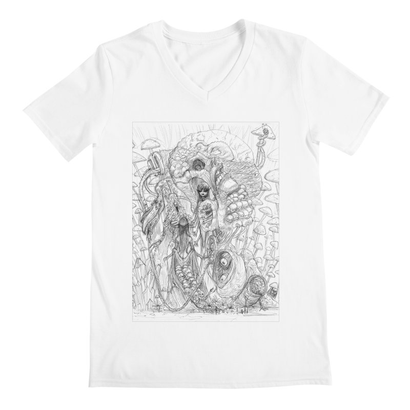 Ethereal Fatalities || Pareidolia Drawing Men's V-Neck by artistsjourney's Artist Shop