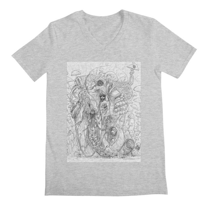 Ethereal Fatalities || Pareidolia Drawing Men's Regular V-Neck by artistsjourney's Artist Shop
