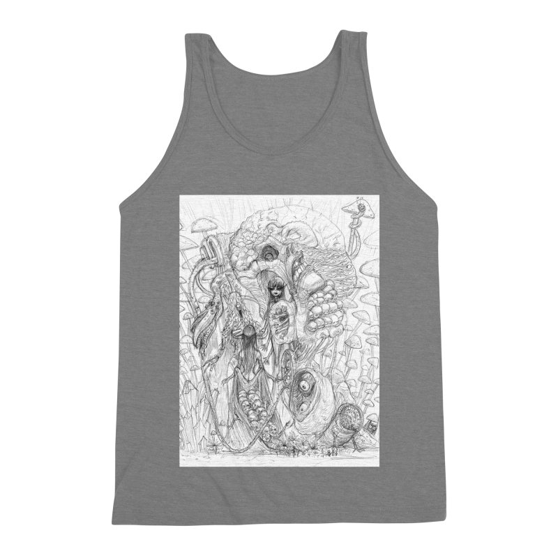 Ethereal Fatalities || Pareidolia Drawing Men's Triblend Tank by artistsjourney's Artist Shop