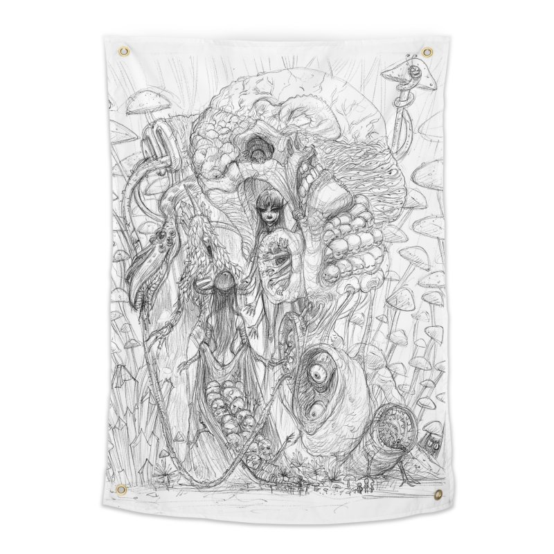 Ethereal Fatalities || Pareidolia Drawing Home Tapestry by artistsjourney's Artist Shop