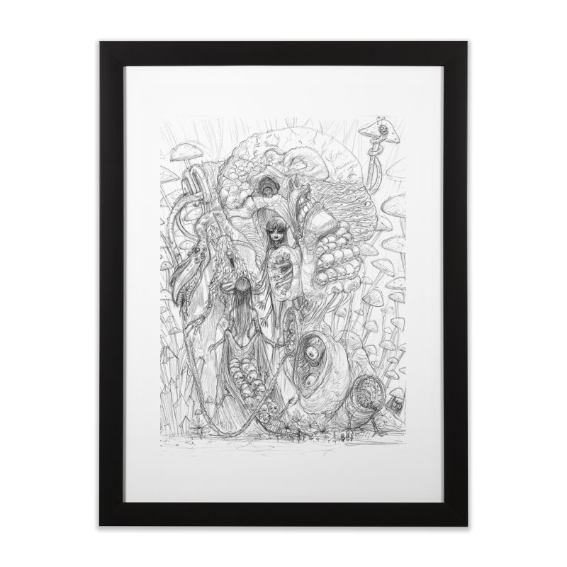 Ethereal Fatalities || Pareidolia Drawing Home Framed Fine Art Print by artistsjourney's Artist Shop