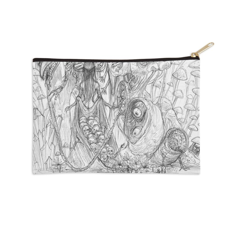 Ethereal Fatalities || Pareidolia Drawing Accessories Zip Pouch by artistsjourney's Artist Shop