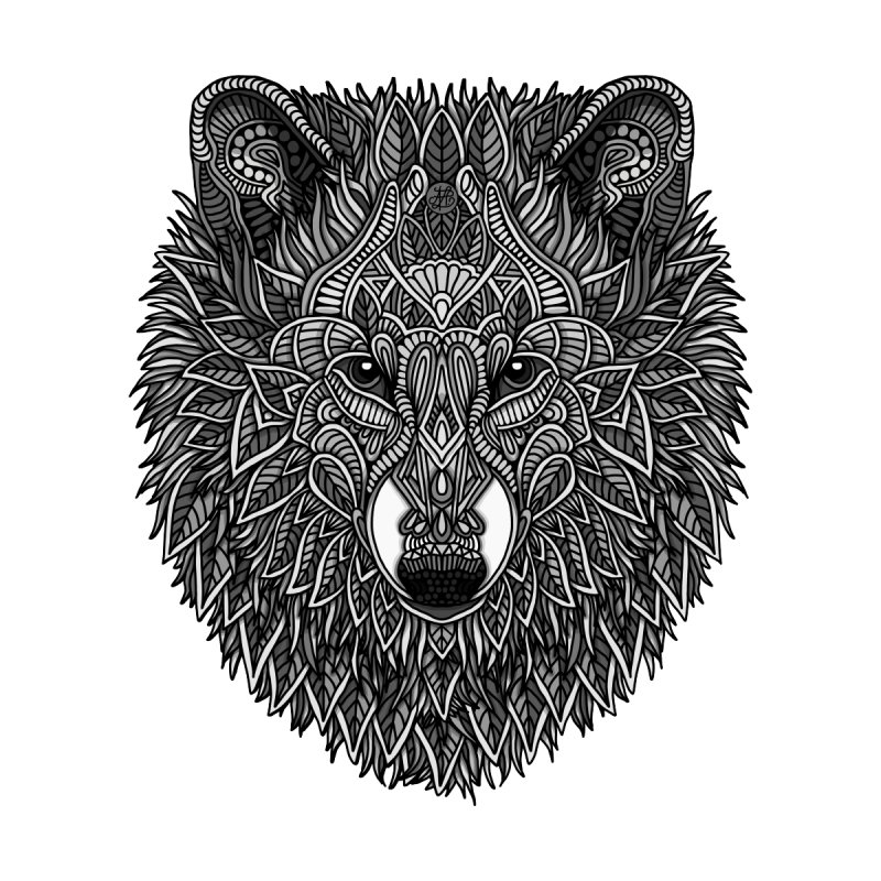 Gray Wolf by Art Love Passion