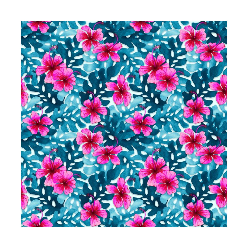 Tropical Hibiscus Pattern Pink by Art Love Passion