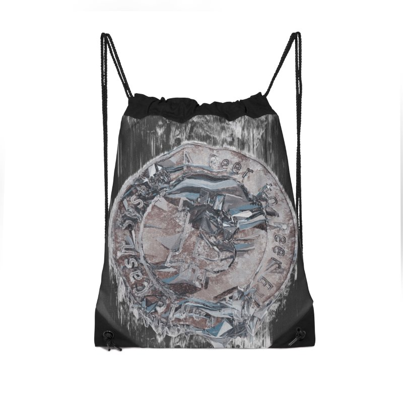 Bitcoin - drk Accessories Drawstring Bag Bag by A R T L y - Goh's Shop