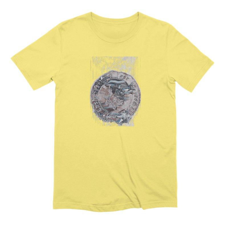 Bitcoin - drk Men's Extra Soft T-Shirt by A R T L y - Goh's Shop