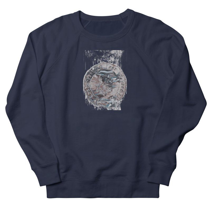 Bitcoin - drk in Men's French Terry Sweatshirt Navy by A R T L y - Goh's Shop