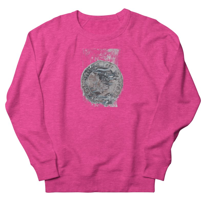 Bitcoin - drk Women's French Terry Sweatshirt by A R T L y - Goh's Shop