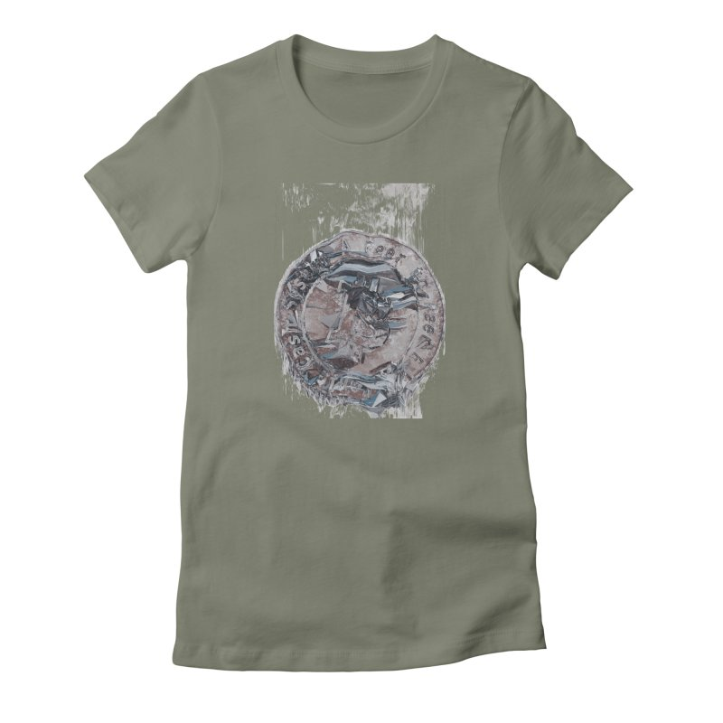 Bitcoin - drk Women's Fitted T-Shirt by A R T L y - Goh's Shop
