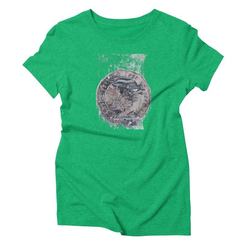 Bitcoin - drk Women's Triblend T-Shirt by A R T L y - Goh's Shop
