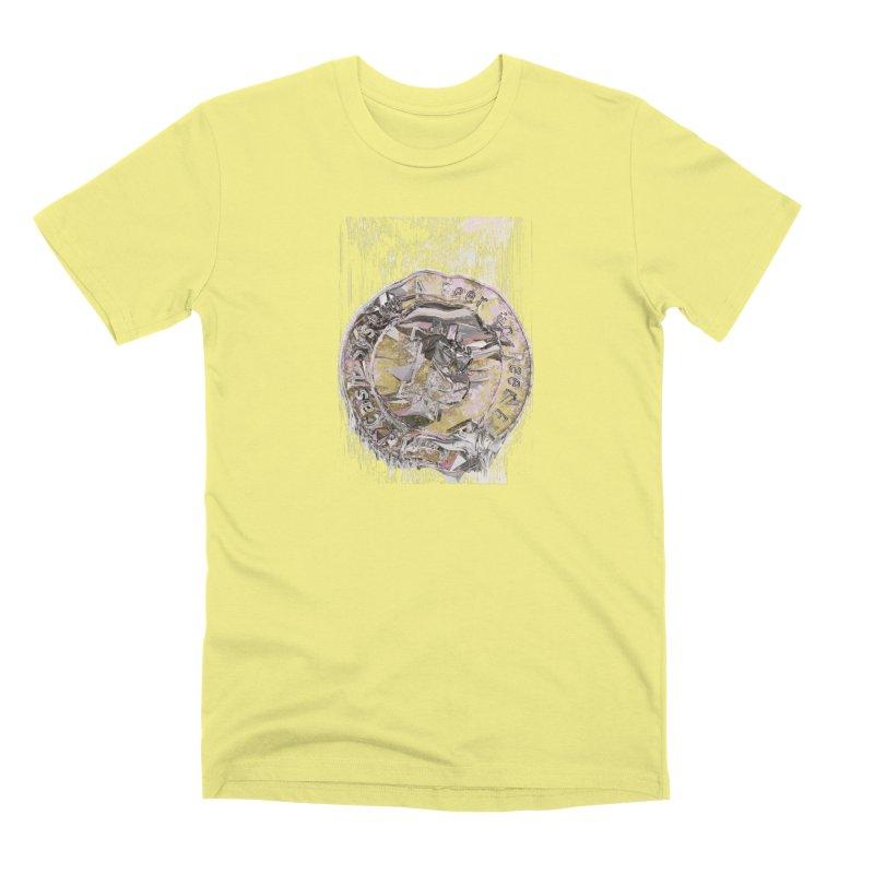 Bitcoin - gld Men's Premium T-Shirt by A R T L y - Goh's Shop