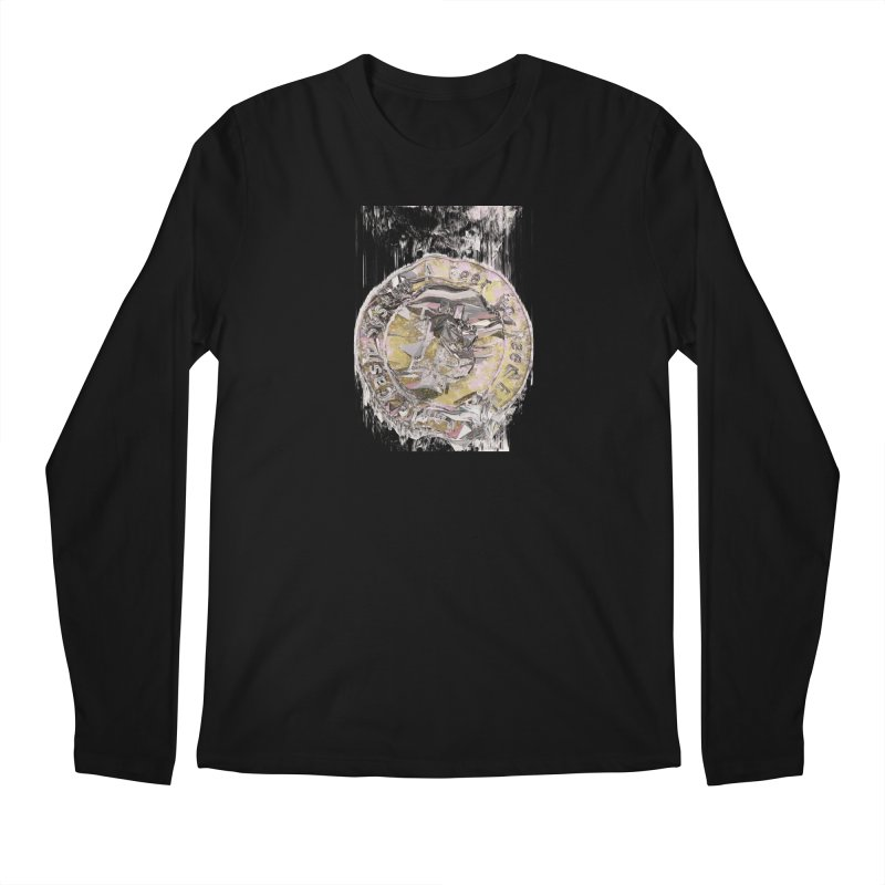 Bitcoin - gld in Men's Regular Longsleeve T-Shirt Black by A R T L y - Goh's Shop