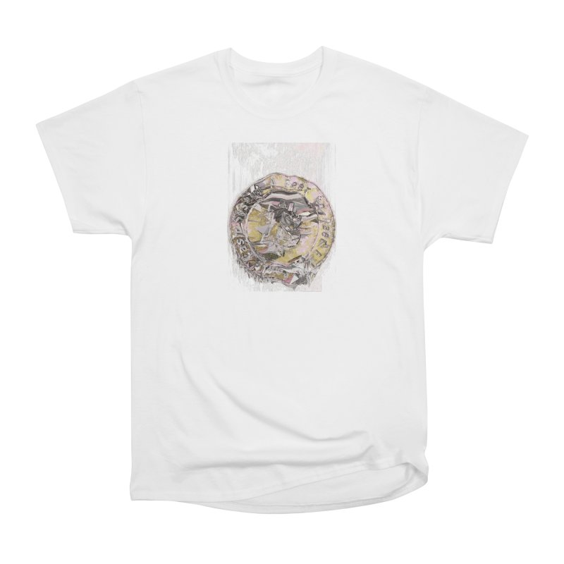 Bitcoin - gld Men's Heavyweight T-Shirt by A R T L y - Goh's Shop