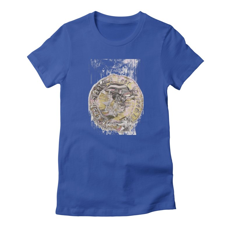 Bitcoin - gld Women's Fitted T-Shirt by A R T L y - Goh's Shop
