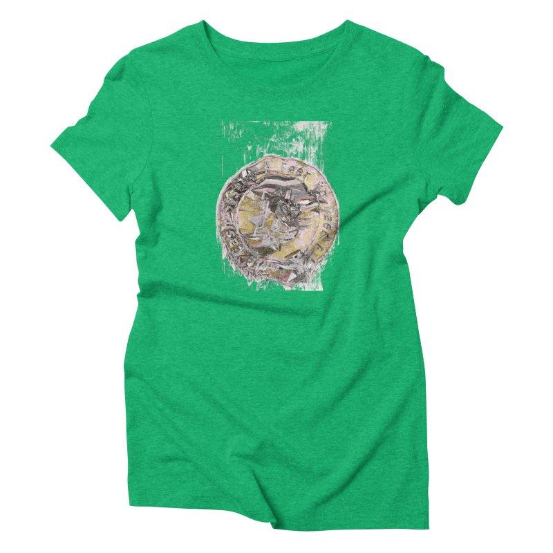 Bitcoin - gld Women's Triblend T-Shirt by A R T L y - Goh's Shop