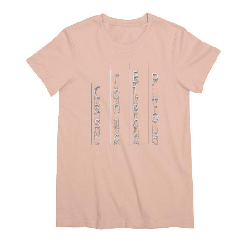 P to P Electronic Cash Women's Premium T-Shirt by A R T L y - Goh's Shop