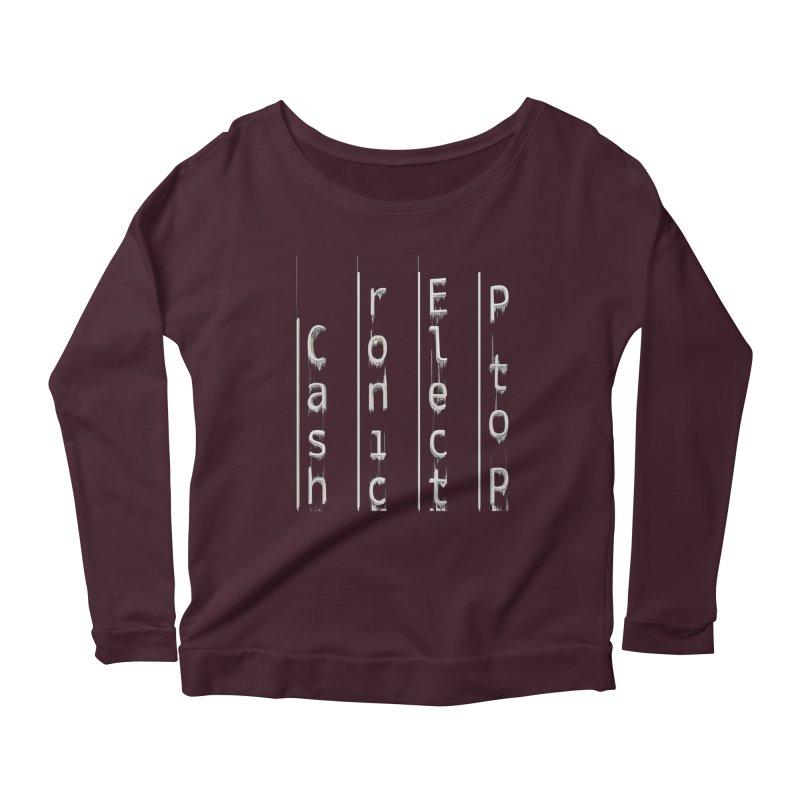P to P Electronic Cash Women's Scoop Neck Longsleeve T-Shirt by A R T L y - Goh's Shop