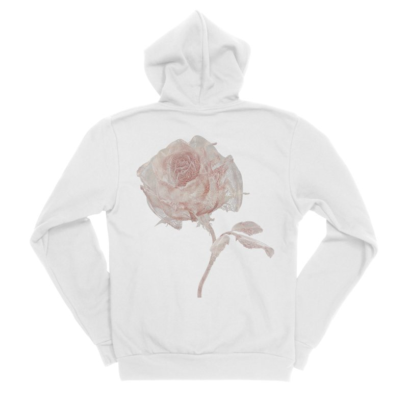 Super Rose - wre Men's Sponge Fleece Zip-Up Hoody by A R T L y - Goh's Shop