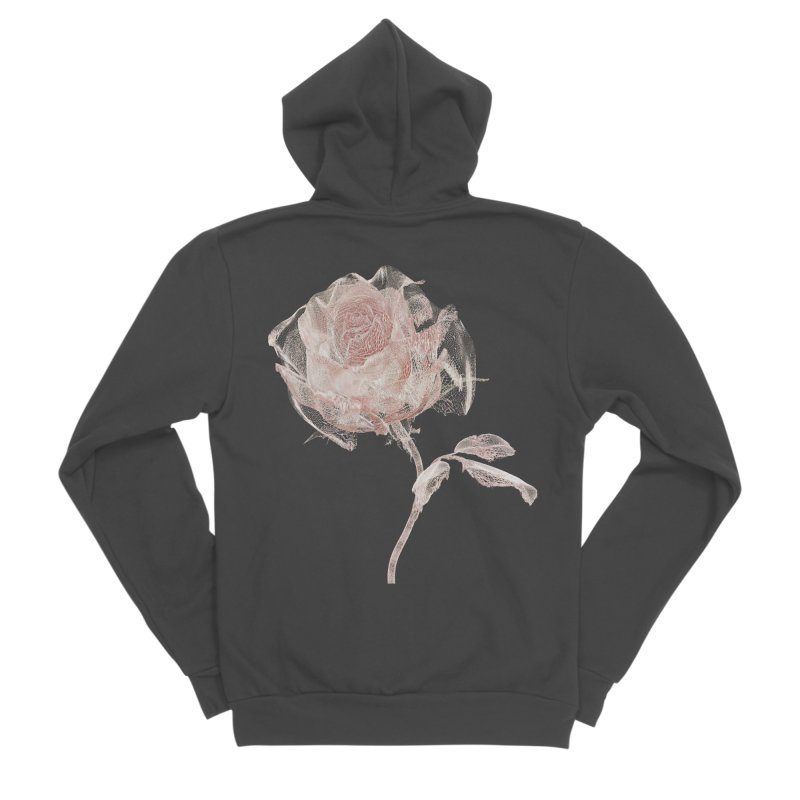Super Rose - wre Women's Sponge Fleece Zip-Up Hoody by A R T L y - Goh's Shop