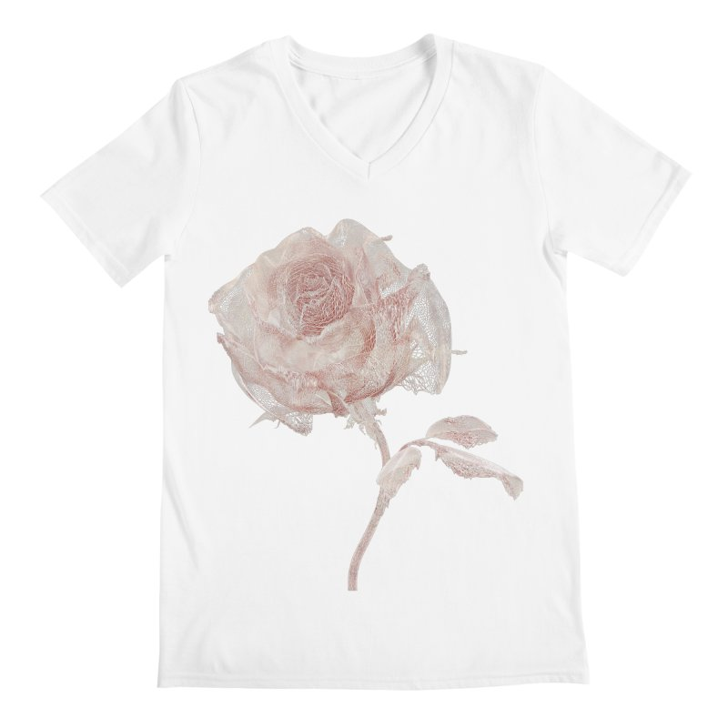 Super Rose - wre Men's Regular V-Neck by A R T L y - Goh's Shop