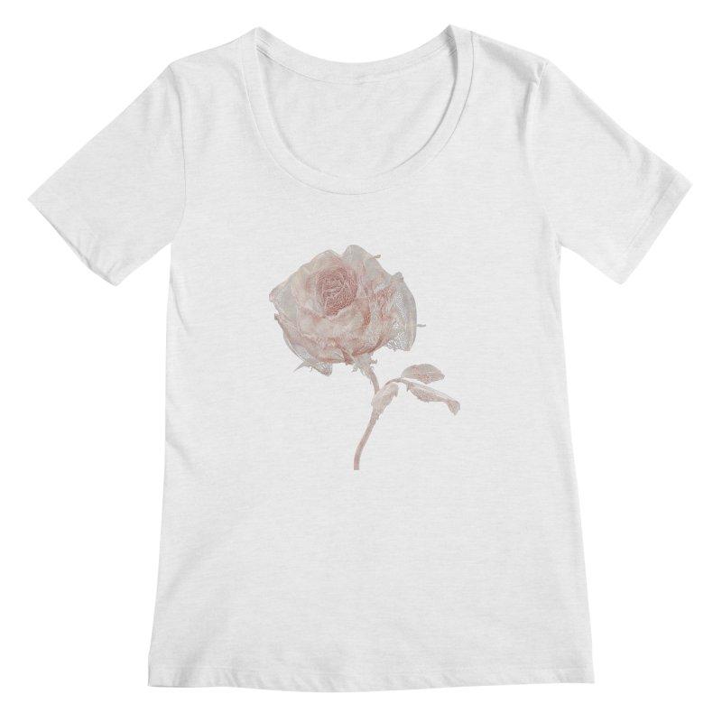 Super Rose - wre Women's Regular Scoop Neck by A R T L y - Goh's Shop