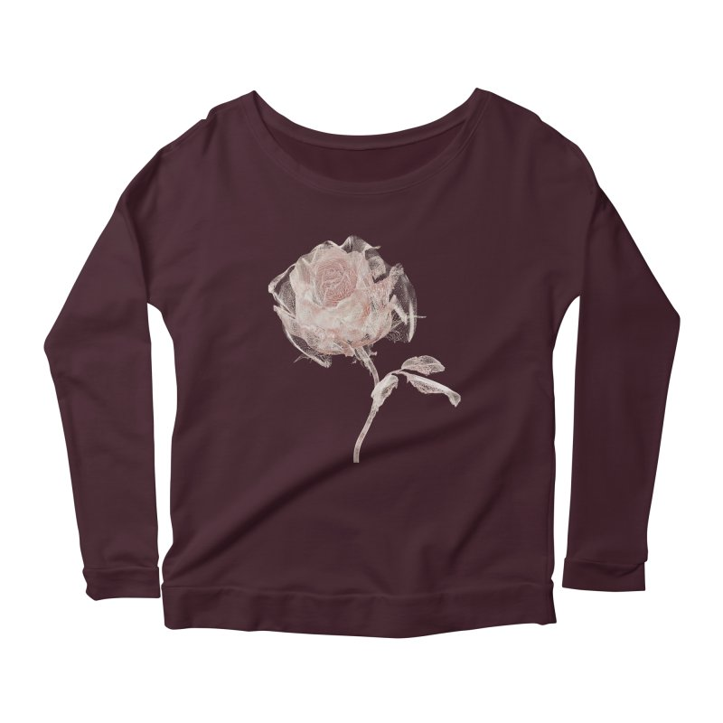 Super Rose - wre Women's Scoop Neck Longsleeve T-Shirt by A R T L y - Goh's Shop