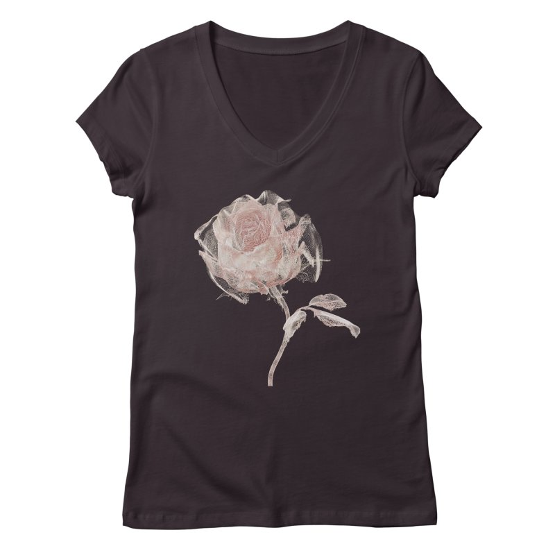 Super Rose - wre Women's Regular V-Neck by A R T L y - Goh's Shop