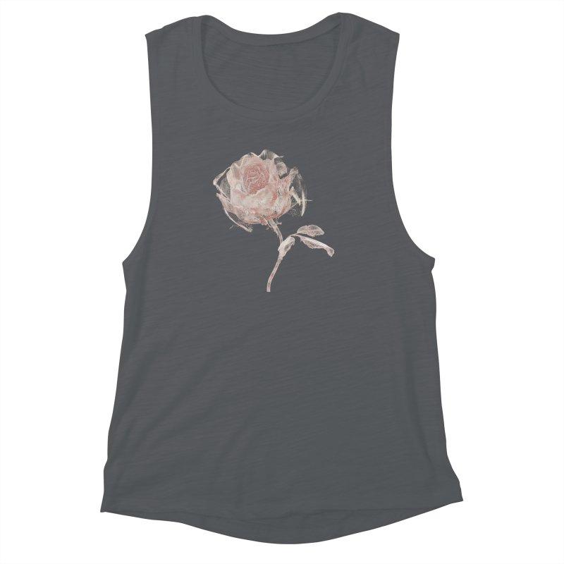 Super Rose - wre Women's Muscle Tank by A R T L y - Goh's Shop