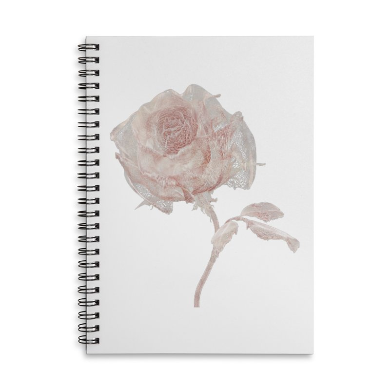 Super Rose - wre Accessories Lined Spiral Notebook by A R T L y - Goh's Shop