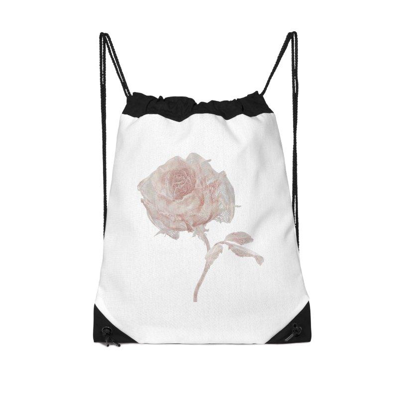 Super Rose - wre Accessories Drawstring Bag Bag by A R T L y - Goh's Shop