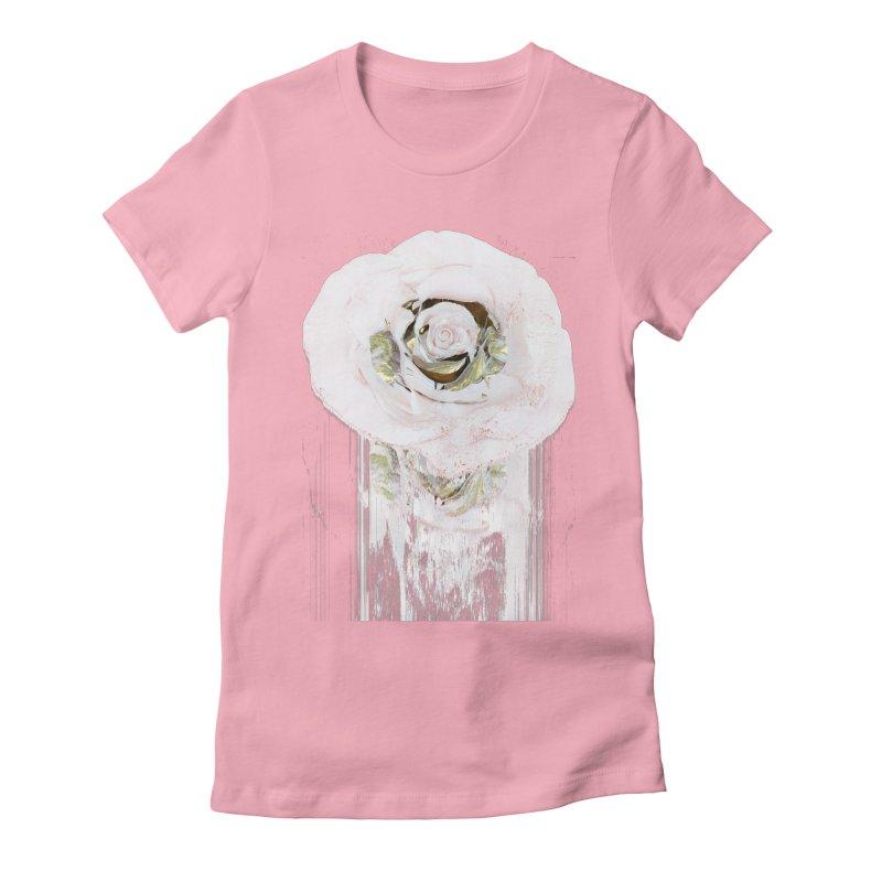 Super Rose Women's Fitted T-Shirt by A R T L y - Goh's Shop