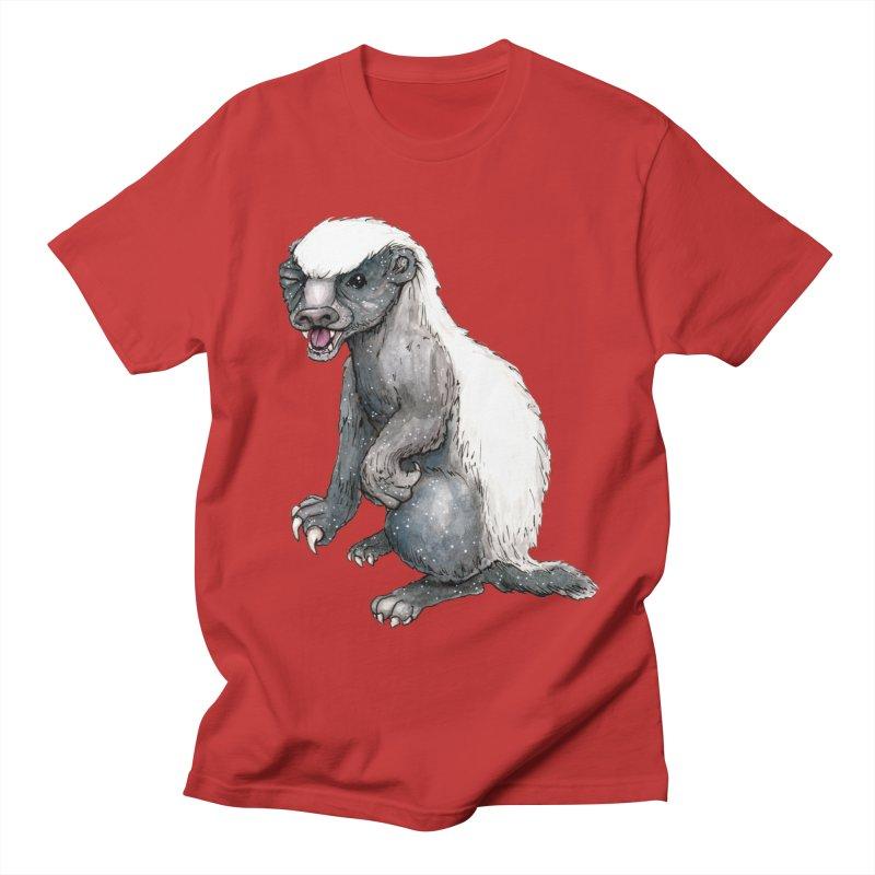 Sassy Honey Badger in Men's Regular T-Shirt Red by artofchristy's Artist Shop