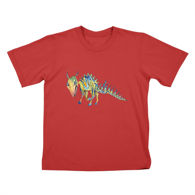 Day 15 Creature in Kids T-Shirt Red by artofchristy's Artist Shop
