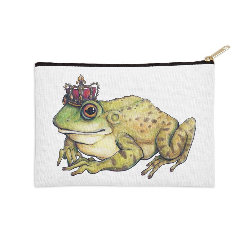 Frog Prince in Zip Pouch by artofchristy's Artist Shop