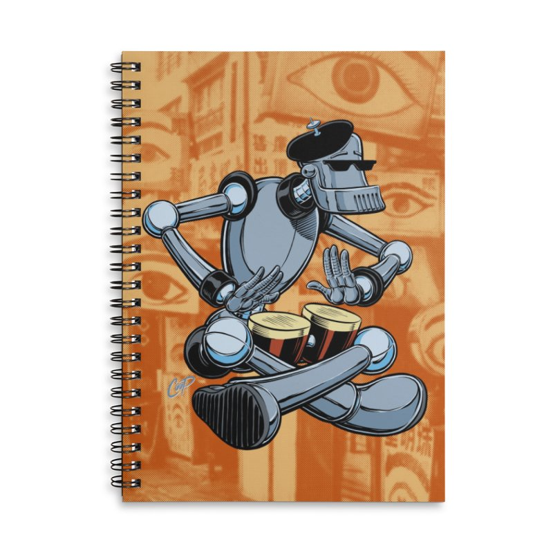 ROBEATNIK Accessories Lined Spiral Notebook by The Art of Coop