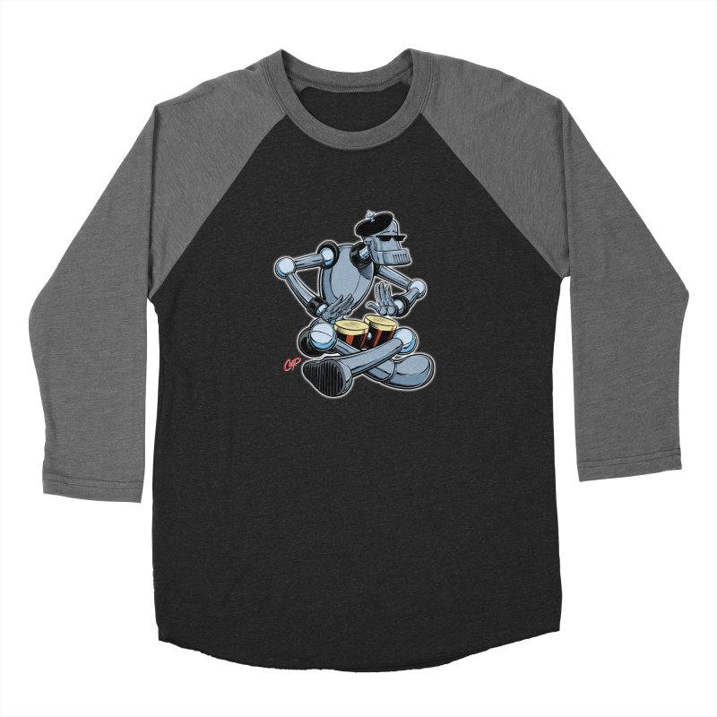 ROBEATNIK Men's Baseball Triblend Longsleeve T-Shirt by The Art of Coop