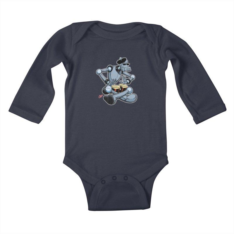 ROBEATNIK Kids Baby Longsleeve Bodysuit by The Art of Coop