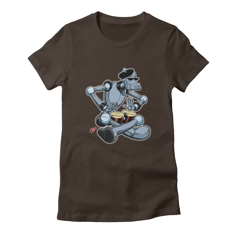 ROBEATNIK Women's Fitted T-Shirt by The Art of Coop