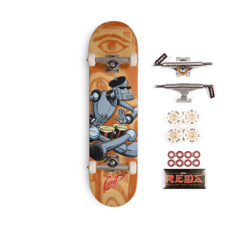 ROBEATNIK Accessories Complete - Pro Skateboard by The Art of Coop