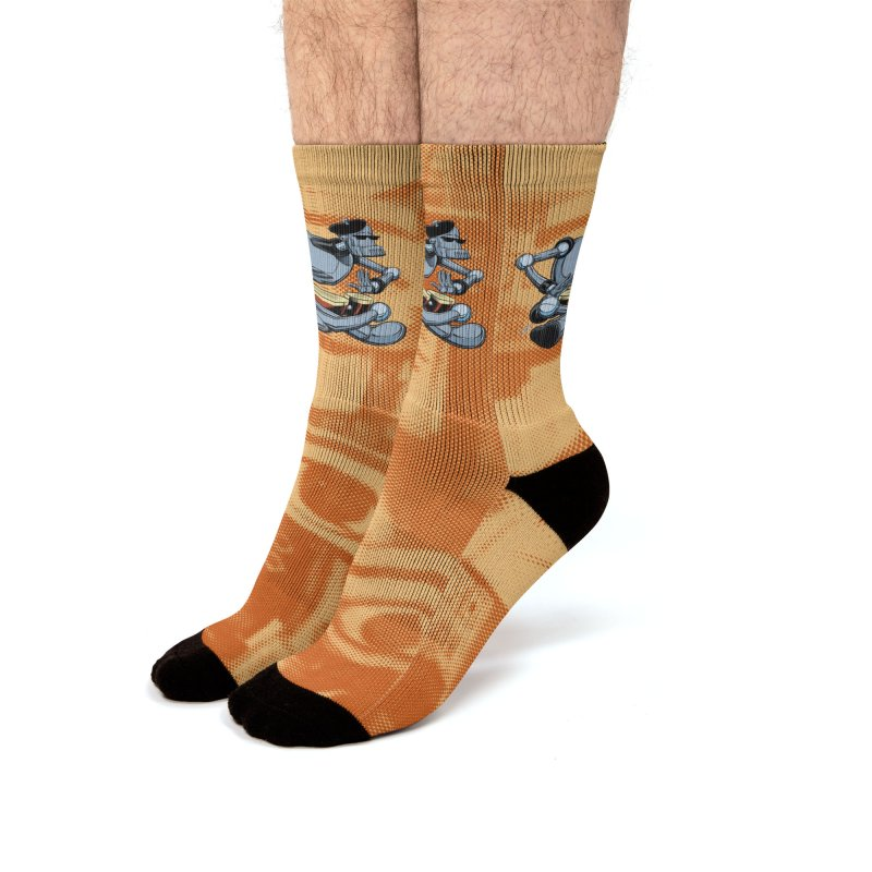ROBEATNIK Men's Crew Socks by The Art of Coop
